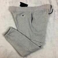 New Men's Hurley Fallbrook Jogger Sweat Pants Size XL Gray