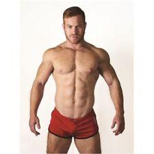Ropa interior rojo de poliéster para hombre