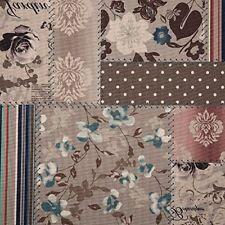 Polsterstoff Dekostoff 0,5lfm 148cm breit Muster Patchwork Floral Blumen PAT02