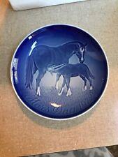 1972~B&G Mother's Day 6� Plate~Dam (Mother Horse) & Foal~by Royal Copenhagen~Nib