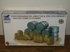 Bronco 1/35 WWII Hungarian 20L jerry can & 200L Fuel Drum Set - Factory Sealed