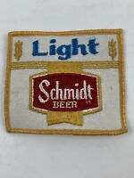 """Schmidt Light Beer Vintage 3"""" Embroidered Fabric Brewery Uniform Patch"""