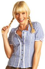 Trachtenbluse Daniela - Blau Weiß kariert - Damenbluse fürs Oktoberfest Gr.36-50