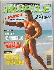 Le Monde Du MUSCLE #104 bodybuilding mag/Franco Santoriello w/poster 10-91 (Fr)