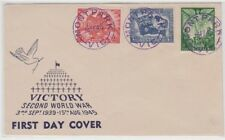 Postmark MONT PARK Victoria in violet on Bodin FDC for 1946 Peace set of 3