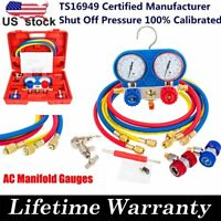 AC Manifold Gauge Set Air Conditioner Pump Service Kit R12 R22 410a HVAC R134A