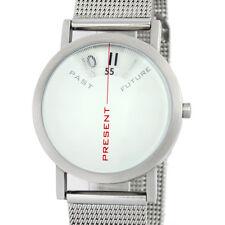 """Projects Watches """"Past, Present, Future"""" Cuarzo Acero Malla Reloj Blanco Mujer"""