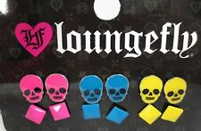 Loungefly Punk Rock Candy Skulls & pyramid Studs Earrings Pack