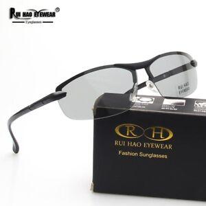Fashion Photochromic Polarized Sunglasses Glasses Eyewear Alloy Frame Eyeglasses