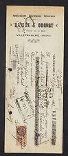"""VILLEFRANCHE (69) APPLICATIONS ELECTRIQUES GENERALES """"BARIOZ & GUINET"""" en 1929"""