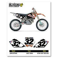 2001-2004 KTM SXF 250-525 Dirt Bike Graphics Motocross Custom Number Plates