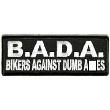 BADA BIKERS AGAINST DUMB A-WORD EMBROIDERED BIKER PATCH