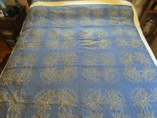 ANTIQUE EARLY QUILT.  FROM A QUAKER FAMILY SIMPLE DESIGN 74 X 96 INCHES