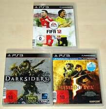 3 PlayStation 3 ps3 juegos colección fifa 12 Darksiders residente Evil 5 oro