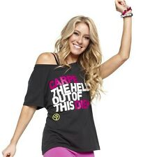 ZUMBA Carpe The Hell Out of This Diem black Tshirt mens womens xs/s  4 - 6NWT
