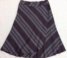 EAST Grey Linen Skirt 18 Asymmetrical Panel Victorian Lagenlook Steampunk Whitby