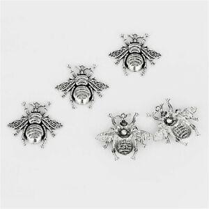 5X Antique Enamel Honeybee Bee Tibetan Charms Pendants Earring Bead Craft Silver