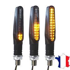 Clignotants à LED adaptables toutes Motos  allumage séquentiel des LED, lot de 2