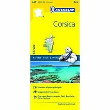 CORSICA MAP MICHELIN 345 - NEW - FRANCE LOCAL MAP - TOURIST AND ROAD