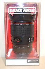 Thumbs Up! Camera Lens Mug Cup w/ Cover Lid (Black) # HC1010