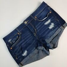 "Aeropostale Denim Women's Shorts Denim Jeans Blue Shorty Distressed 2"" Size 6"