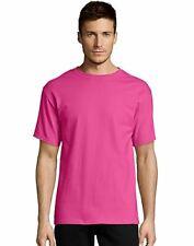 Hanes Mens T-Shirt Comfort Soft 100% Cotton Short Sleeve TAGLESS Tee Plain Blank