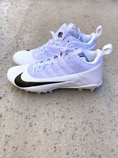 New Nike Lacrosse 12.5 Mid Top Cleats Sports Cleat College Ncaa White Men's Nwt