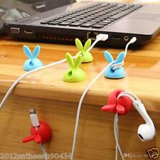 Cute Adhesive Wire Cable Drop Clip Ties Organizer Holder Fixer (4 pcs)
