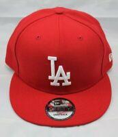 NEW ERA 9FIFTY SNAPBACK HAT/CAP.  MLB.  LOS ANGELES DODGERS.  RED.