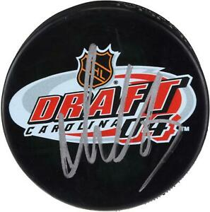 Alex Ovechkin Washington Capitals Autographed 2004 NHL Draft Logo Hockey Puck