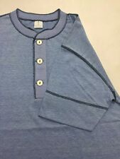 New Appalachian Dry Goods Exclusive Large Vintage Style 1970s Henley Blue 70's