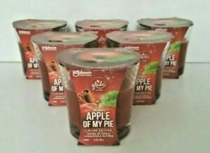 6 Glade Candles - Limited Edition - Apple Of My Pie 3.4 oz. - New!!