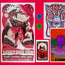 Mars Red Sky 2016 Original Concert Collection. Signed by band. Portland Or. Mint