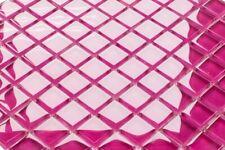 LUXUS Glasmosaik Fliesen Mosaik rosa pink fuchsia glänzend 8mm