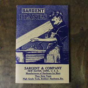 Vintage Sargent & Company Planes Tool Catalog 1970s Reprint