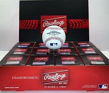 (12) Rawlings Official Major League Game Baseball Manfred ROMLB Boxed - 1 Dozen