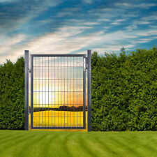 Gartentüre Gartentor Zauntüre Zauntor Metalltüre Türe 100x120 cm Anthrazit Grau