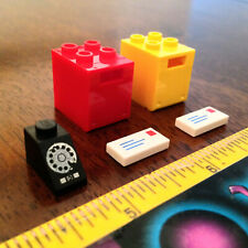 LOT 2x LEGO MINI MAILBOX + VINTAGE ROTARY DIAL PHONE TELEPHONE + MAIL BOX OPENS