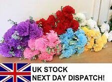 35cm Artificial Carnation Rose Silk Flowers Flower Floral Fake Wedding VARIOUS