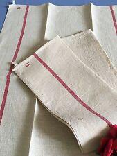 Torchons anciens Coton rustique ( Toile de jute ) Chiffrés C Réf 1540/118-1