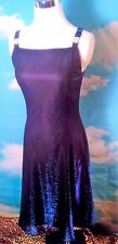 Betsy & Adam Dress Sz 6 Metallic Blue Rhinestone butterflies Straps Prom Formal