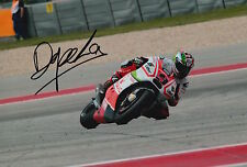 Danilo Petrucci Hand Signed Pramac Ducati 12x8 Photo 2015 MotoGP.