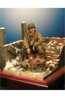 USA Soldier at Battle of the Bulge 54mm 1/32 Tin Painted Toy Soldier | Art