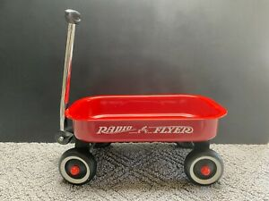 """Small Radio Flyer Red Pull Wagon 7 1/2"""" Wide 12 1/2"""" Long 5 1/2"""" Tall"""