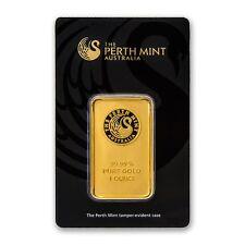 1 oz Australian Perth Mint Gold Bar .9999 Fine in Assay Card