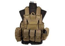 Lancer Tactical Strike Plate Carrier Vest (Tan) 11686