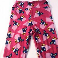 LuLaRoe Disney Donald Duck Pink Circle Triangle Square Tween Girls Leggings