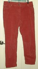 Liz Claiborne Womens Size 14 (36x30) Pink Relaxed Corduroy Pants Stretch 6-14020