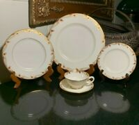 Lenox Essex 5 Piece Traditional Place Setting Gold Trim USA - 8 Available