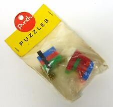 2 Porte-clés Key ring Puzzle - ELEPHANT + CUBE - Casse-Tête - punch PUZZLES -